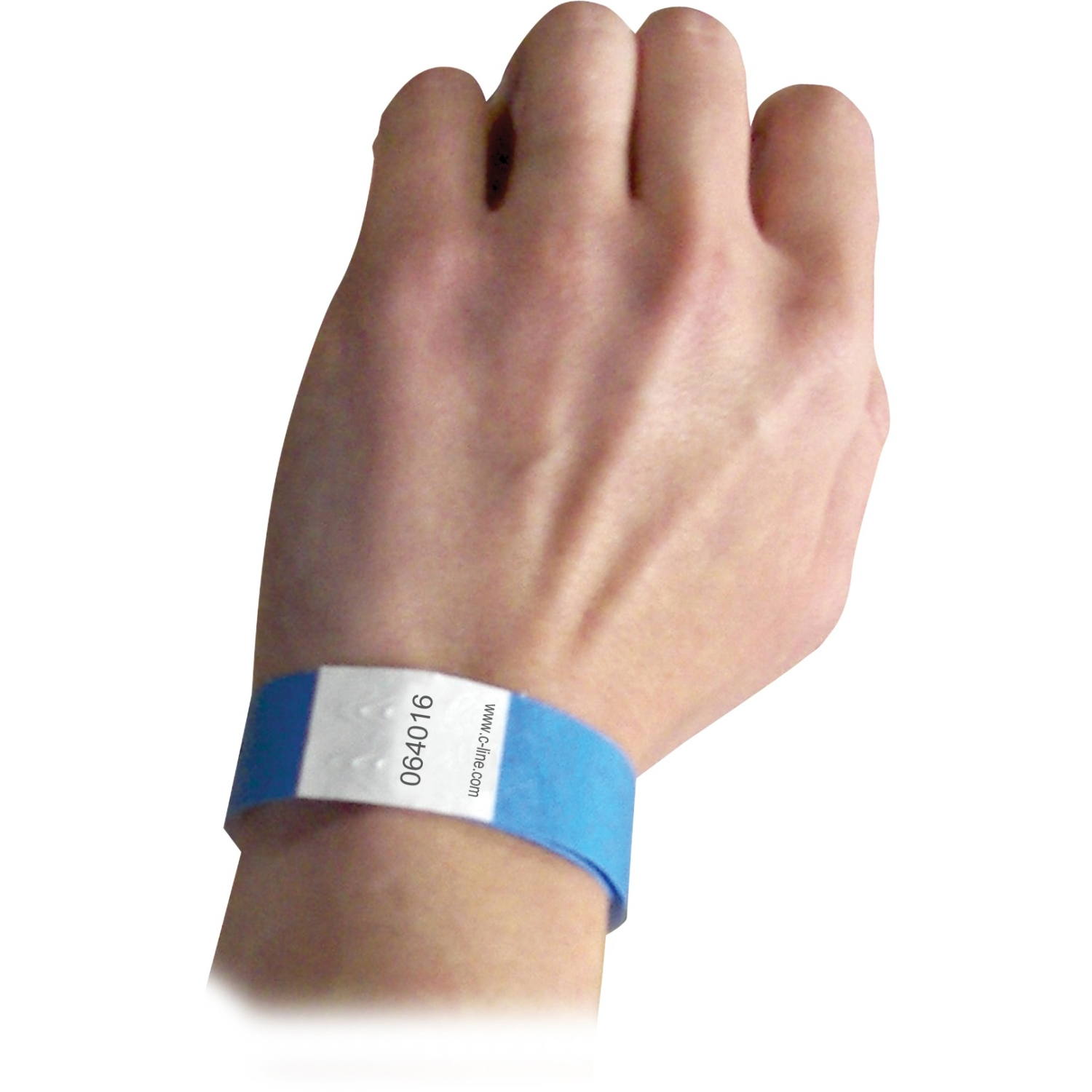 C Line Dupont Tyvek Blue Security Wristbands 100pk