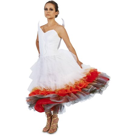 Halloween Wedding Dress Costume (Wedding Dress on Fire Women's Adult Halloween)