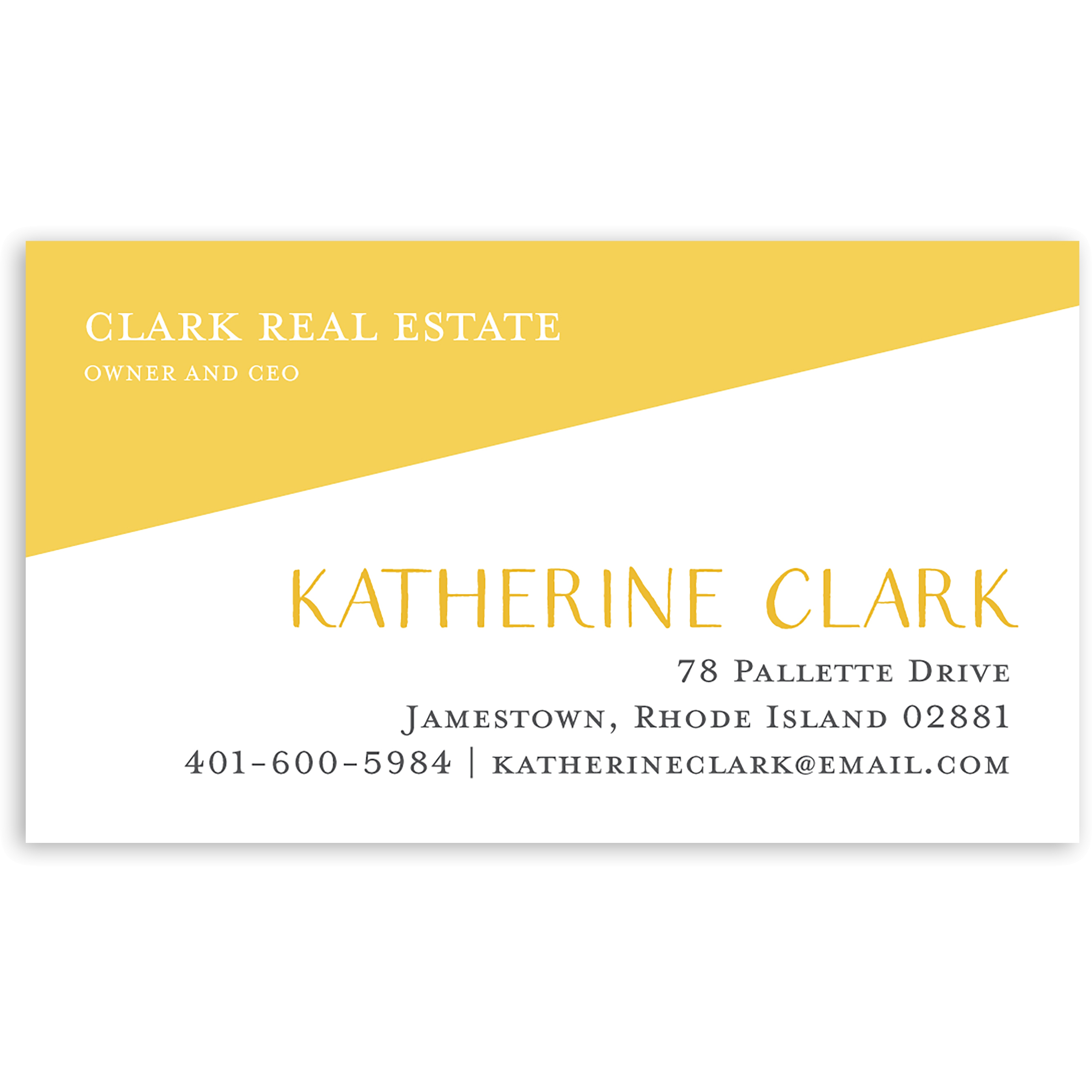 Modern Hello - Personalized 3.5 x 2 Business Card