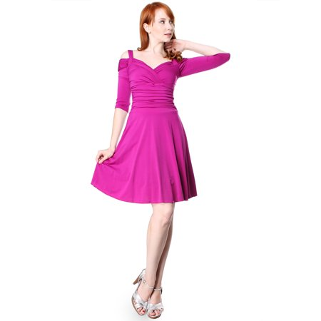 8d1a52801a92 Evanese - Evanese Women's Elegant Slip On Short Elegant Cocktail Dress with  3/4 Sleeves - Walmart.com