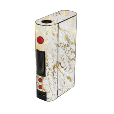 Skin Decal For Kangertech Kbox 200W Kanger Vape Mod / Marble White Gold Flake