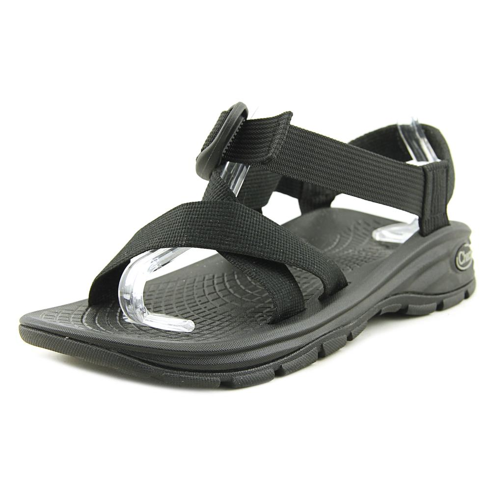 Chaco ZVolv Men Open-Toe Canvas Black Sport Sandal by Chaco