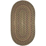 Capel 0032VS080011 Pristene 8' x 11' Oval Synthetic Braided Stripes Area Rug