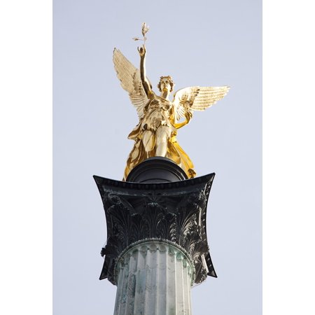 - Laminated Poster Leaf Gilded Bronze Statue Gold Wing Angel Gilded Poster Print 24 x 36