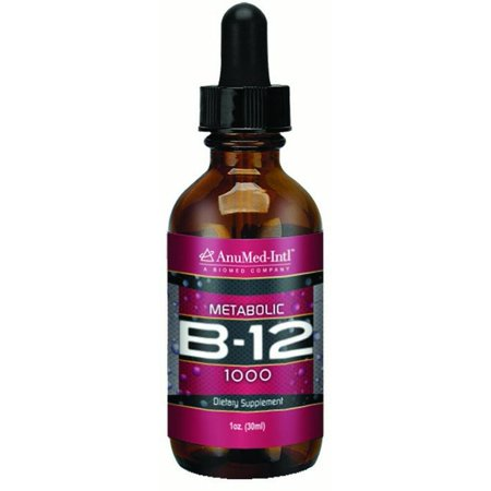 AnuMed Complexe international de la vitamine B12 1000mg, 1 Oz