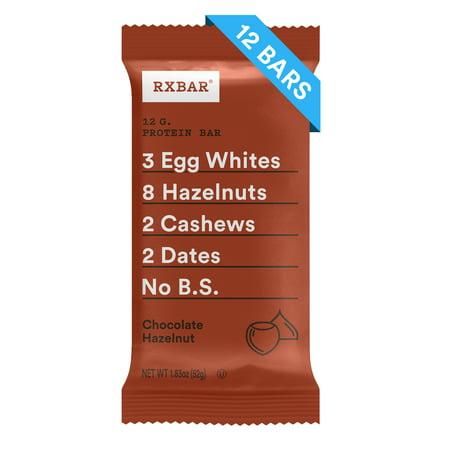 RXBAR, Chocolate Hazelnut, 1.83 Oz, 12 Ct, Gluten Free, Protein Bar