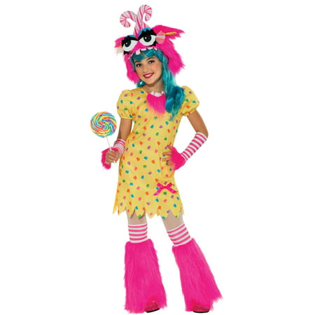 Sweet Tooth Rave Monster Fluffy TuTu Girls Fancy Halloween Party Costume Set S-L (Male Halloween Rave Costumes)
