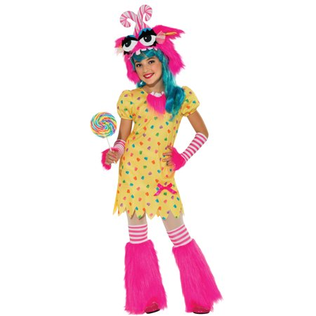 Sweet Tooth Rave Monster Fluffy Tutu Girls Fancy Halloween Party Costume Set (Halloween Rave Clothes)