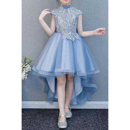 Kids Girls Cap Sleeve Fluffy Wedding Party Dress](Fluffy Girls)