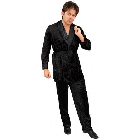 Black Smoking Jacket Adult Costume - X-Large](Vee Lounge Halloween)