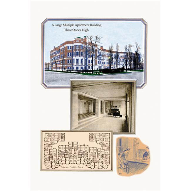 Buy Enlarge 0-587-08460-xP20x30 Large Multiple Apartment Building- Paper Size P20x30