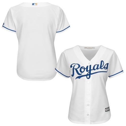 Kansas City Royals Majestic Women's Plus Size Cool Base Team Jersey White by Profile