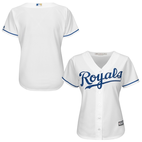Kansas City Royals Majestic Women's Plus Size Cool Base Team Jersey - White