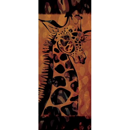 Tie Dye Safari I Stretched Canvas - Gena Rivas-Velazquez (10 x 20)
