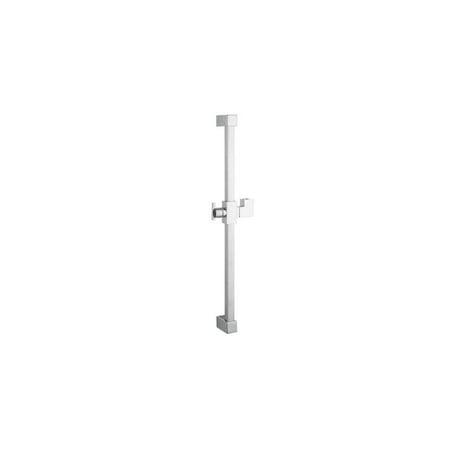 Chromed Steel Slide (kingston brass kx8241 23-3/5-inch abs and stainless steel square slide bar, polished)