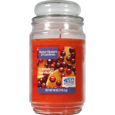 Diwali Candles (Better Homes & Gardens Cranberry Mandarin Splash Single-Wick 18 oz. Jar Candle)