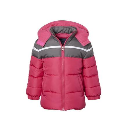 Cherokee Toddler Girl Colorblock Puffer Jacket