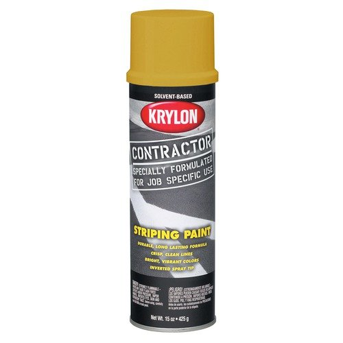 Krylon 18 Oz Highway Yellow Contractor Striping Spray Paint 7341  (Set of 6)