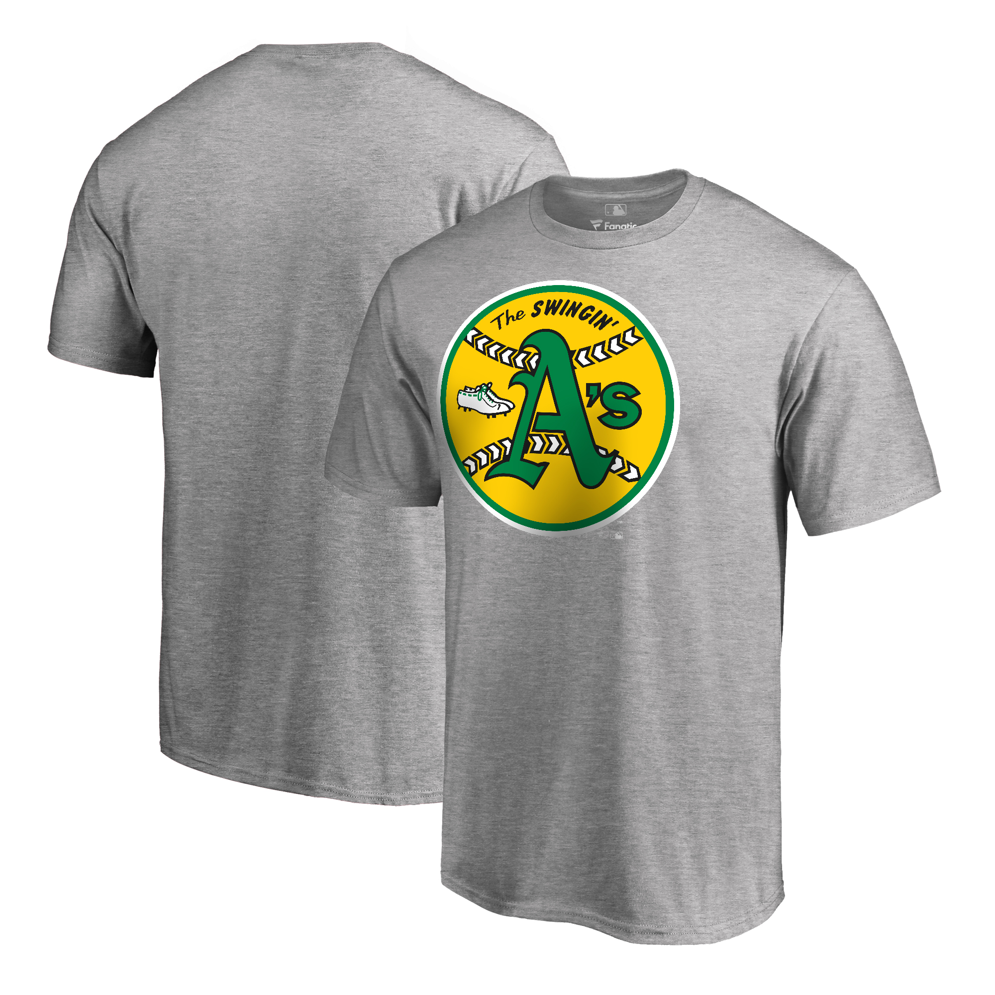 Oakland Athletics Fanatics Branded Big & Tall Cooperstown Collection Huntington T-Shirt - Ash