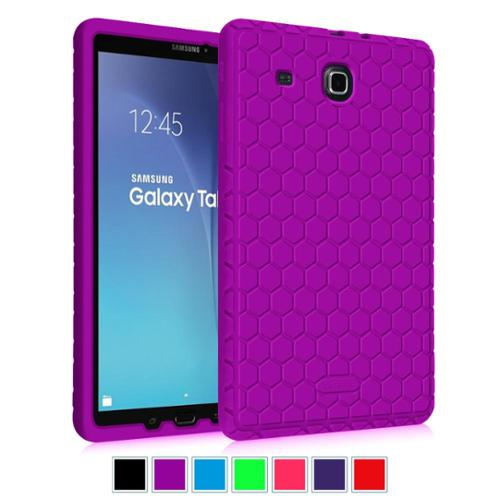 Fintie Samsung Galaxy Tab E 9.6 / Tab E Nook 9.6 Inch Tablet Silicone Case - Lightweight Shockproof Cover, Purple