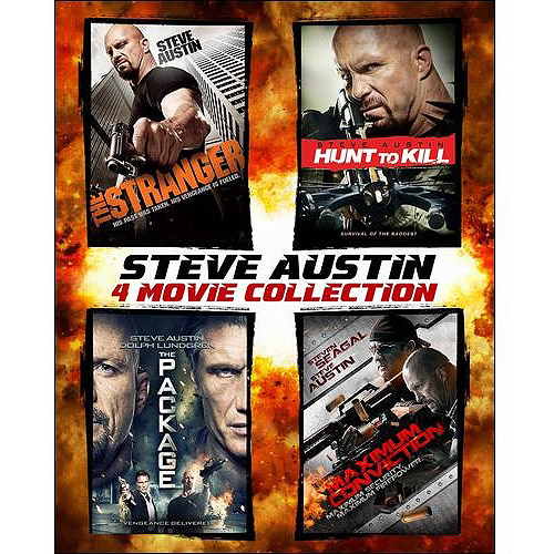 Steve Austin 4-Pack: The Stranger / Hunt To Kill / The Package / Maximum Conviction (Blu-ray Steelbook) (Widescreen)