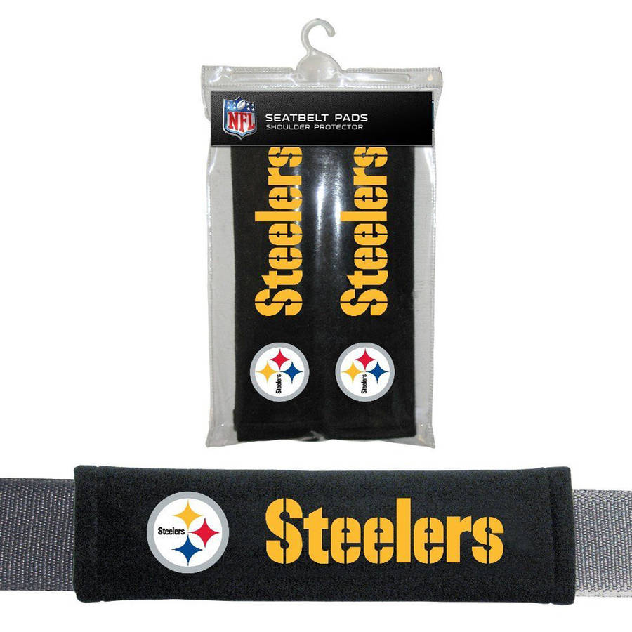 NFL Pittsburgh Steelers Velour Seat Belt Pads