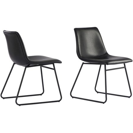 Better Homes & Gardens Theodore Dining Chairs, Set of 2, Black ()