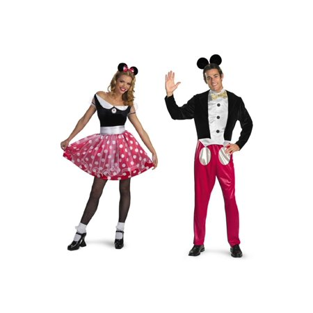Disney Minnie Mouse and Mickey Mouse Couples Costume Set - Mickey And Minnie Couples Costumes