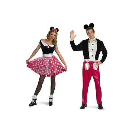 Disney Minnie Mouse and Mickey Mouse Couples Costume Set