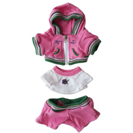 Pink Sweat Suit Outfit Clothing Fits Most 8