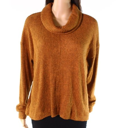 Roasted Pecan Womens Medium Ribbed Knit Top