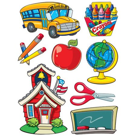 Eureka Classroom More School Supplies Window Cling