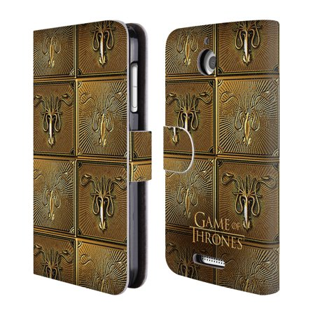 Official Hbo Game Of Thrones Golden Sigils Leather Book Wallet Case Cover For Htc Phones 1