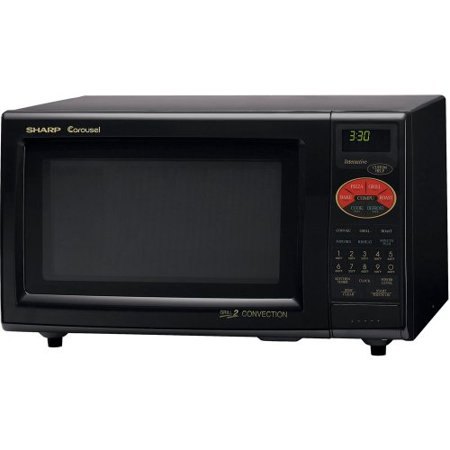 Sharp R 820bk 900 Watt 0 9 Cubic Foot Convection Microwave Black