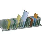 Inclined Vertical Desktop Organizer in Gray