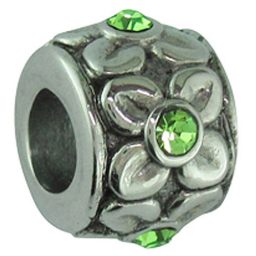Connections from Hallmark Stainless Steel August Birthstone Flower Charm