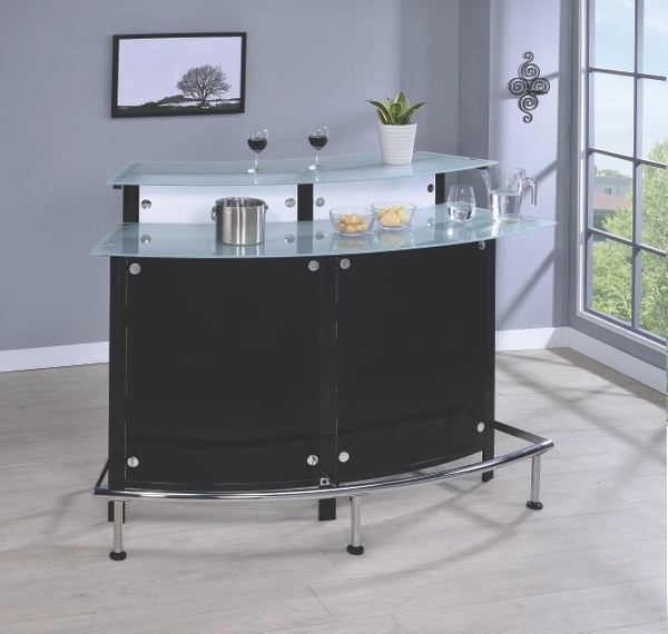 Coaster Company Contemporary Bar Table, Chrome Black