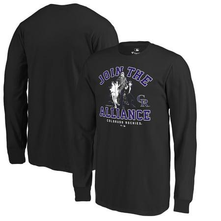 8a5b25870 Colorado Rockies Fanatics Branded Youth MLB Star Wars Join The Alliance  Long Sleeve T-Shirt - Black - Walmart.com