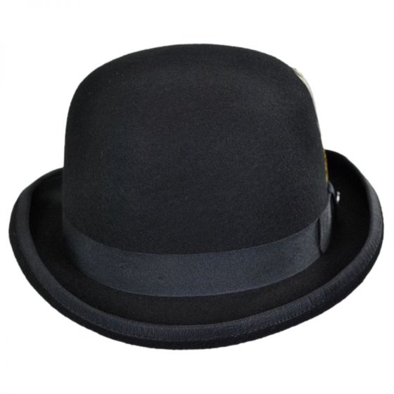 03f187332ae8d Jaxon Hats - English Wool Felt Bowler Hat - XXL - Black - Walmart.com