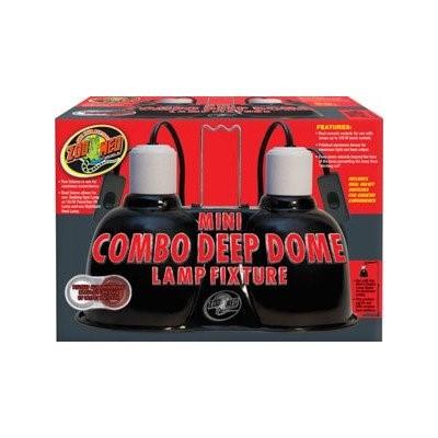 Zoo Med Mini Combo Deep Dome Dual Lamp Fixture, 100 Watt - Walmart.com