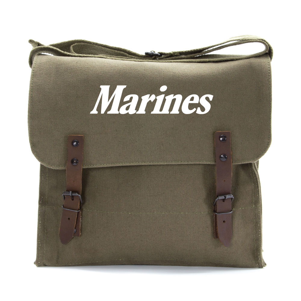 Marine Corps Text Army Heavyweight Canvas Medic Shoulder Bag