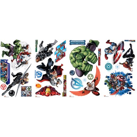 RoomMates Avengers Assemble Peel-and-Stick Wall Decals (Avengers Decor)