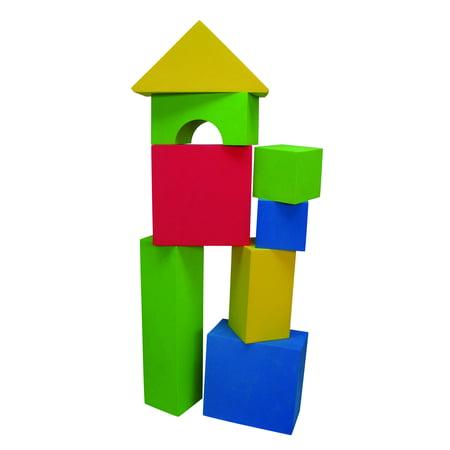 Edushape Educolor Blocks - Edushape Big Educolor Blocks, 32-Piece