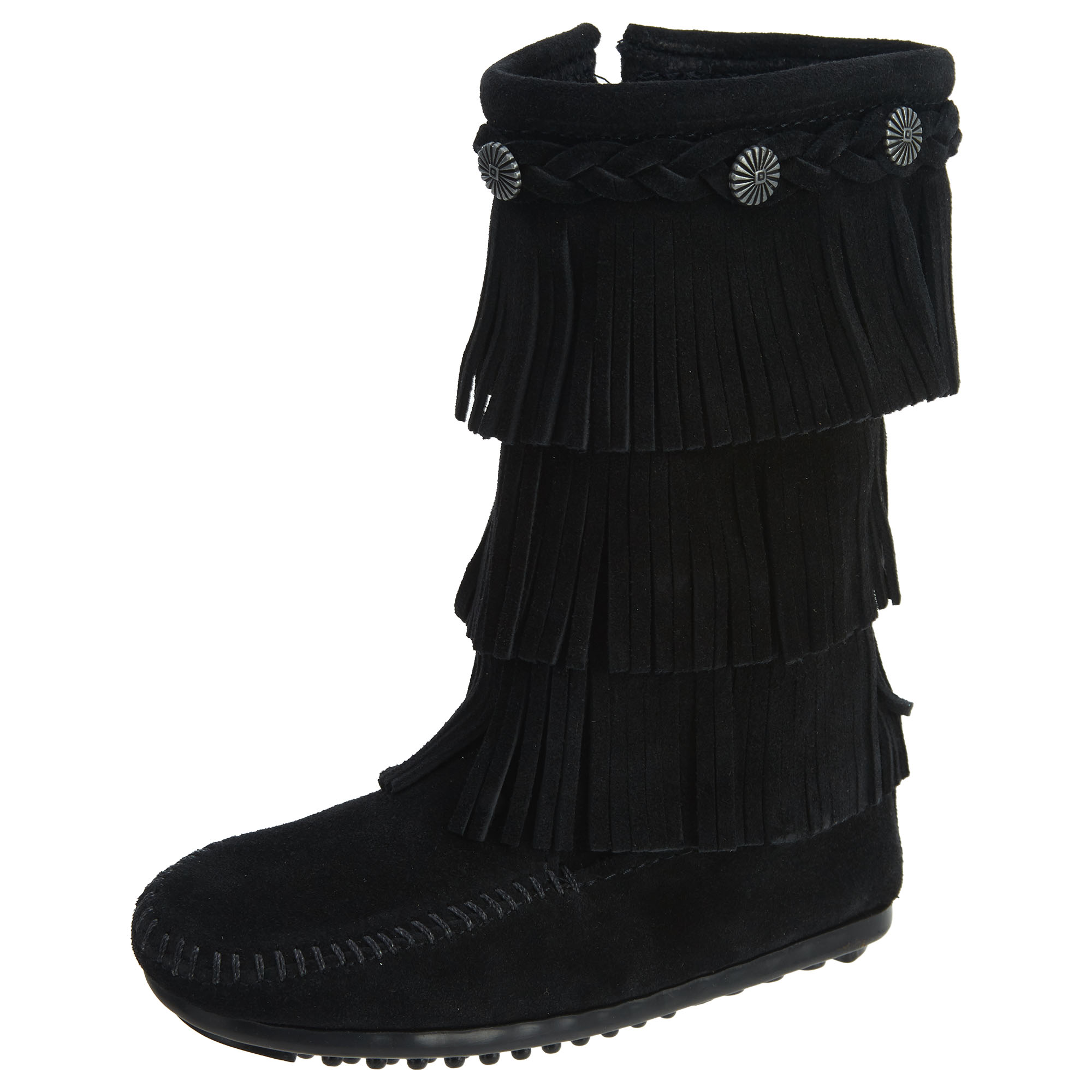 Minnetonka 3 Layer Fringe Boot Big Kids Style : 2659 by Minnetonka