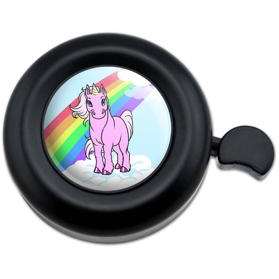 Frolicking Unicorns White Purple Pattern Bicycle Handlebar Bike Bell