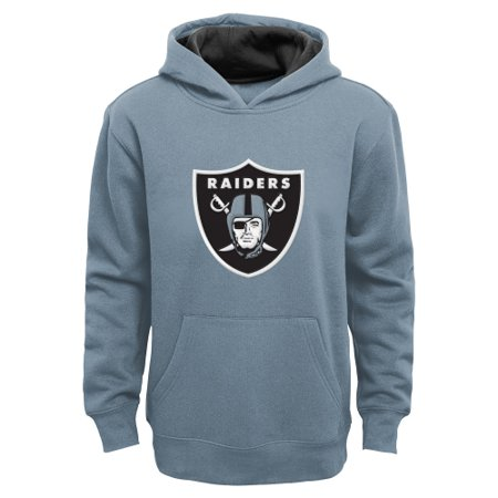 Oakland Raiders Youth Fan Gear Prime Pullover Hoodie - -