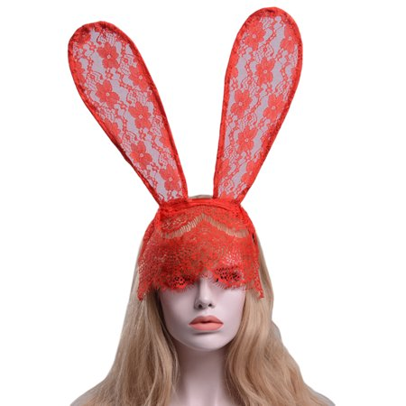 Lace Rabbit Mask (Women Delicate Lace Headdress Rabbit Ear Sexy Head)