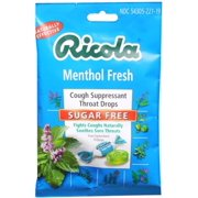 Ricola Sugar Free Throat Drops Menthol 19 Each (Pack of 6)