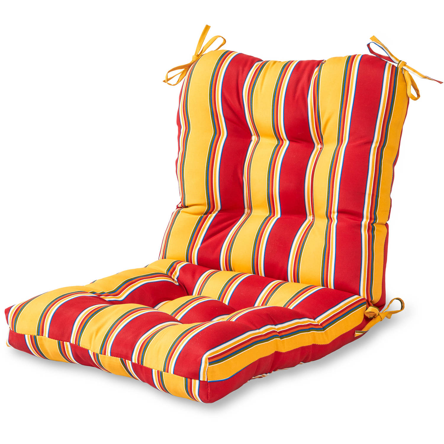 Greendale Home Fashions Outdoor Seat/Back Chair Cushion, Carnival Stripe