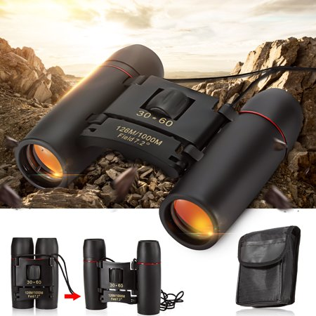 Day And Night Vision 30x60 126m/1000m Folding Binoculars Telescope w/ Strip&Bag For Hunting Camping Hiking Travel Bird (Best Bird Watching Binoculars 2019)